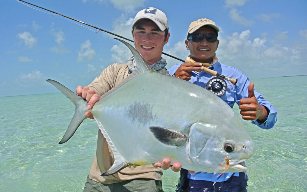 fly fishing for permit in belize toflyfish