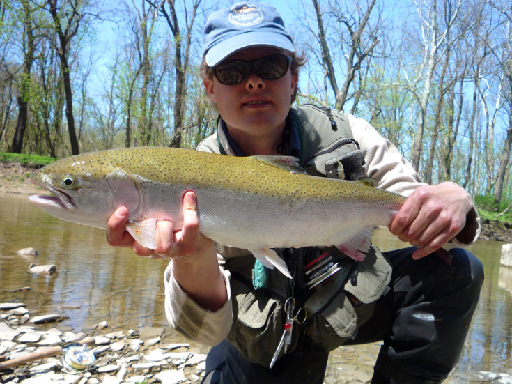 Lake Erie steelhead fly fishing.