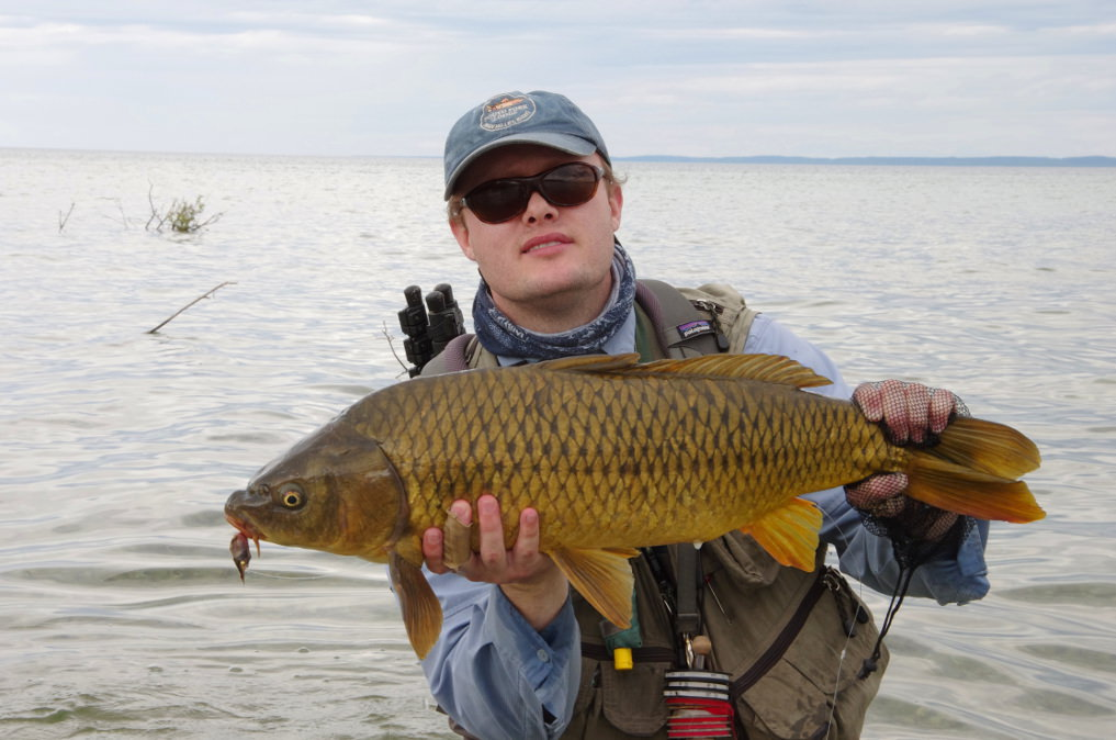 Lake Michigan Carp Fly Fishing.