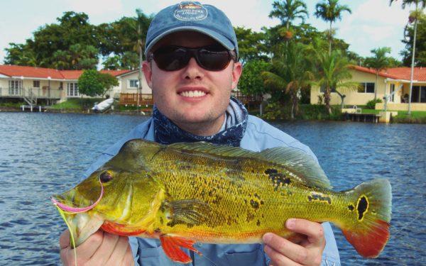 Bass fly fishing.