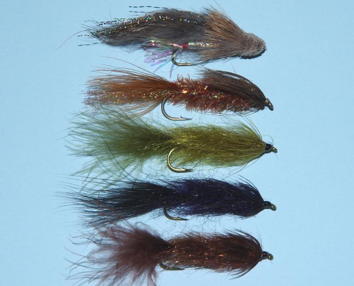 Slow stillwater trout flies.