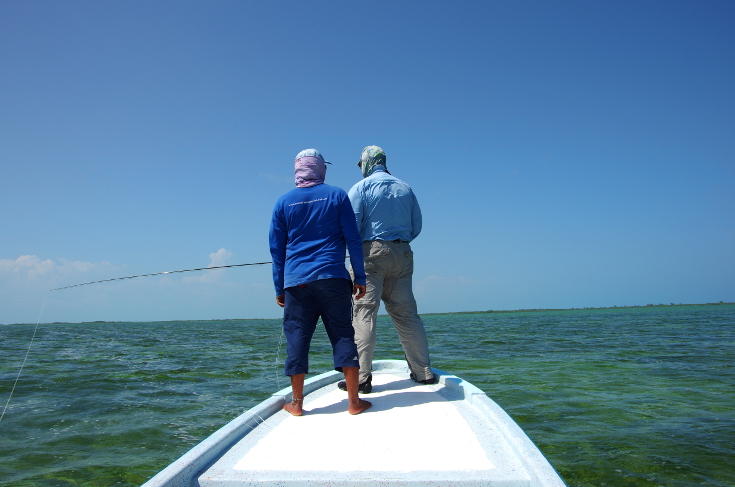 Hosted saltwater fly fishing travel.