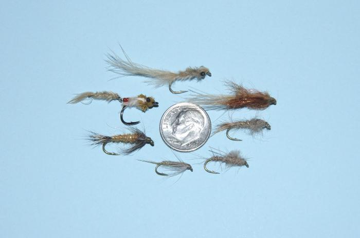 Slow stillwater trout small flies.