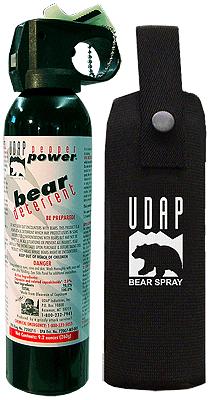Travel and shipping bear spray.
