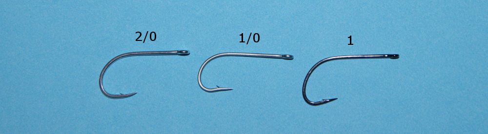 Fly fishing hook size answers.