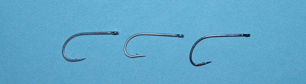 Fly fishing hook size test.