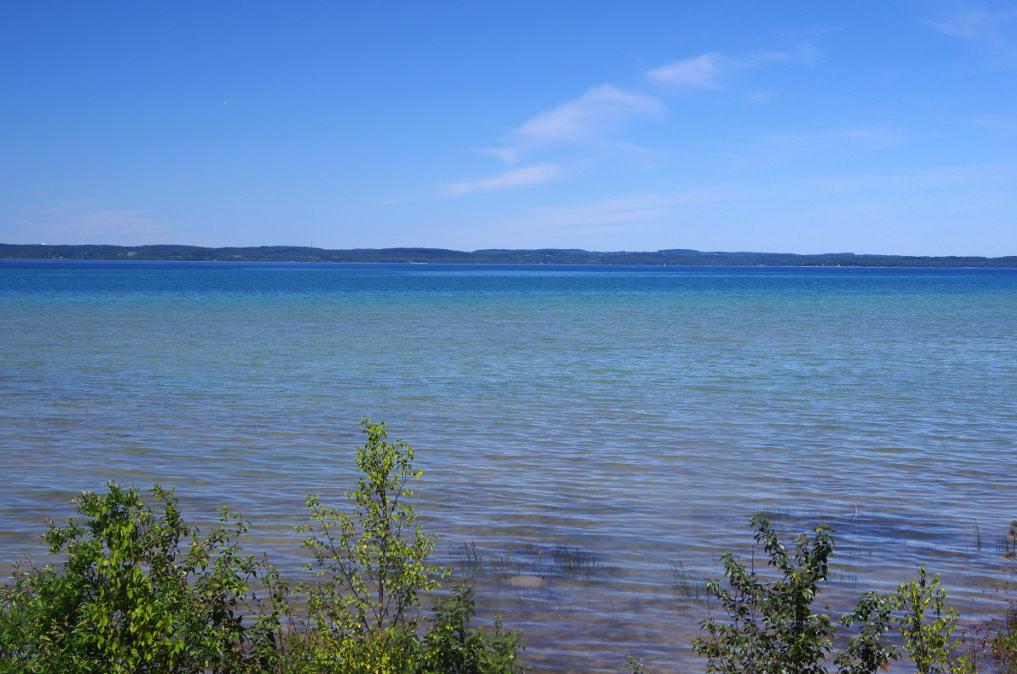 Great Lakes carp flats on Lake Michigan..