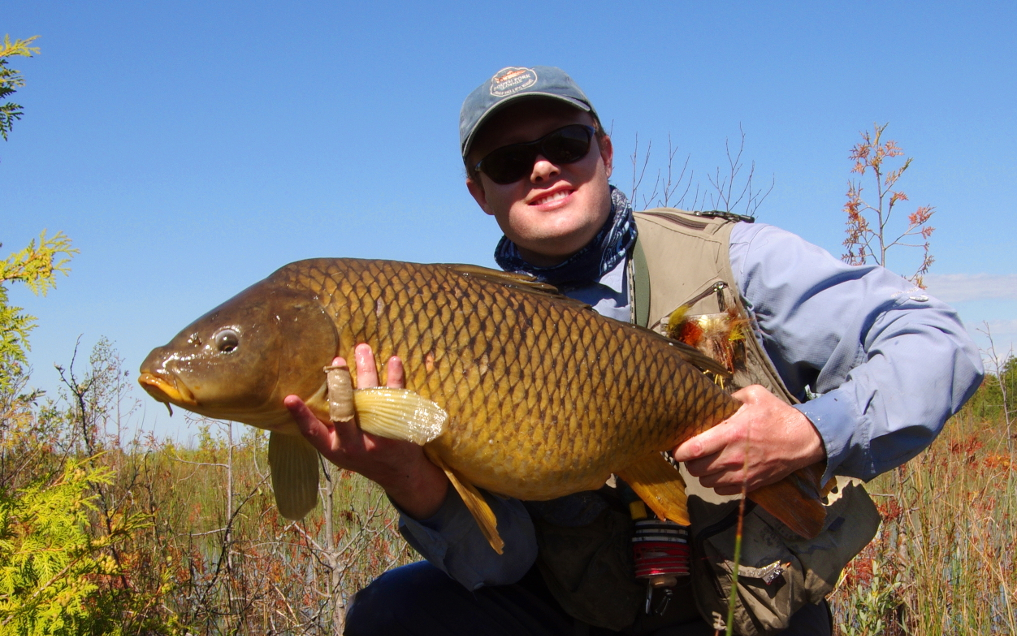 Great Lakes carp fly fishing.